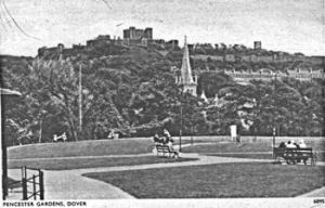 Pencester Gardens during the inter-war period. Dover Library