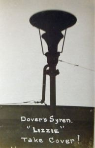 Take cover siren, nicknamed 'Lizzy'. Dover Library