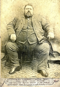 Thomas Longley of the Star public House, Church Street known as, 'Her Majesty's heaviest subject.' Dover Museum