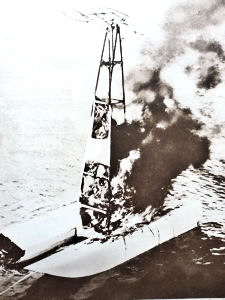 German seaplane having been shot down in 1918. Doyle Collection