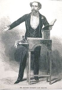 Charles Dickens at a Reading. Illustrated London News - Rochester Town Hall
