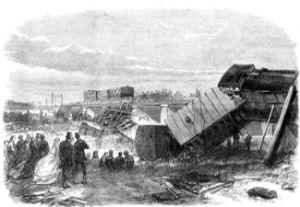 South Eastern Railway Company Staplehurst rail disaster 9 June 1865. Illustrated London News