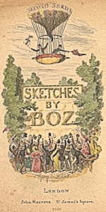 Title page of 2nd series of Sketches by Boz by Charles Dickens illustrated by George Cruikshank US Library of Congress Prints & Photo Division