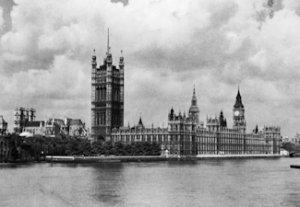 House of Parliament and Westminster Abbey 1909. Library of Congress