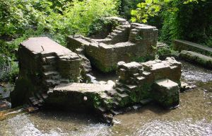 Ruins of River Paper Mill, Lower Road - Minnis Lane , River. Alan Sencicle
