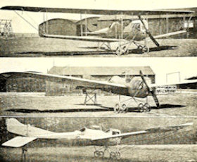 DFW Mars mono and biplanes published in Aeroplane 19, 08.11.1913. The top photograph is the monoplane flown by Lieutenant von Hiddensson at the Strasbourg aeroplane show in May 1913. Wikimedia