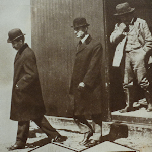 Orville & Wilbur Wright followed by Horace Short. The Short brothers won the right to build Wright planes. Eveline Larder