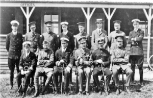 RFC Central Flying School staff in January 1913 at Upavon. The commandant, Capt Godfrey Paine, is 3rd from left on the front row. Major Hugh Trenchard, Assistant Commandant, is immediately to his right. Air Publication 3003. HMSO Wikimedia