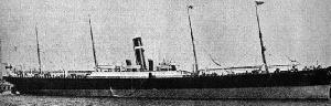 Canadian Pacific Atlantic Liner SS Montrose c1910 sank on the Goodwin Sands 1914. Wikimedia