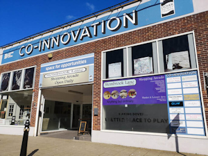 Co-Innovation Centre, Stembrook advertising Stembrook Lane Shopping Arcade. DDC 2019