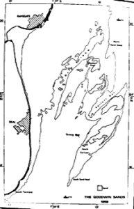 Map of the Goodwin Sands 1968 from Goodwin Sands Shipwrecks by Richard Larn