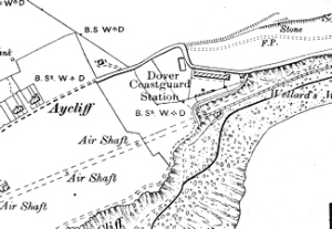 Map showing the location of Dover Coastguard Station c1910. Dover Library