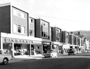Pencester Road shops built by St Martins Property Corporation late 1960s. Dover Museum