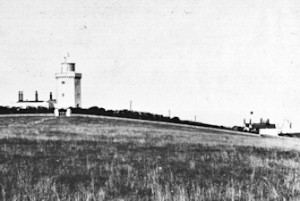 South Foreland two lighthouses c1900. Dover Museum