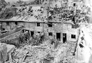Stembrook following the shelling on the night of 2 September 1944. Dover Museum