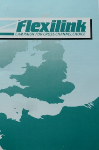 Flexilink set up by DHB, Chambers of Commerce, Ferry & Freight operators, in opposition to the Channel Tunnel. 1986