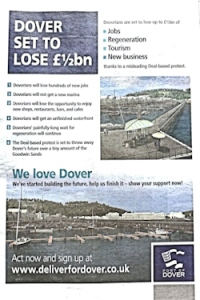 DHB advert against the Save the Goodwins campaign from sand dredging for the Western Docks project. Sept 2016