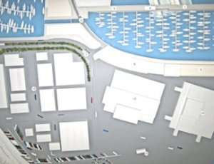 DHB Western Docks 2014 proposal showing The Cut (6) without an incorporated flood barrier. AS