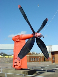 Hovercraft Propeller at the defunct Hoverport western end of Seafront. Alan Sencicle 2009