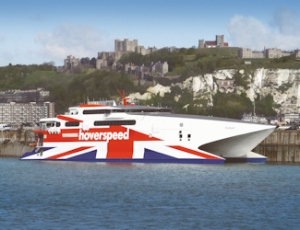 Hoverspeed's Seacat Diamant. Dover Harbour Board