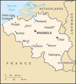 Map of Belgium. Wikimedia