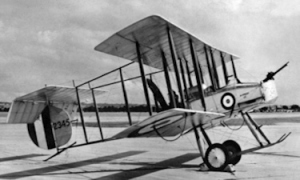 Vickers pusher F.B.5 aeroplane, nicknamed the Gunbus. World's first operational fighter aircraft. Wikimedia
