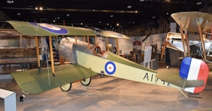 Bristol Scout D aeroplane at Aerospace Bristol. Note Lewis gun on upper wing. Hugh Llewelyn Wikimedia