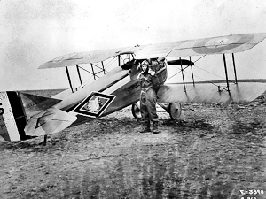 103rd Aero Squadron (US) Spad XIII C.1 and Capt. Robert Soubiran. US Army