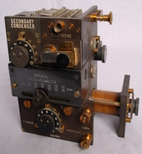 WWI Crystal set receiver - Medium Wave Transmission. marconiheritage.org
