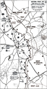 Map of the Third Battle of Ypres (31.07-10 11.1917) History Department of the US Military Academy West Point