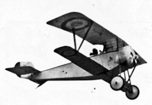 Nieuport 11. Note that the lower wing is narrower than the upper wing Wikimedia