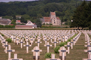 Soupir N° I National Cemetery Chemin des Dames ridge, graves of French soldiers who fought in the Second Battle of Aisne 1917. Bodoklecks