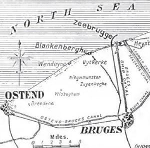 Bruges docks and the approaches from Zeebrugge and Ostend Times history of the War ([1914]-21)