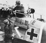 WWI - German Halberstadt CL.II bomb rack. Wikimedia