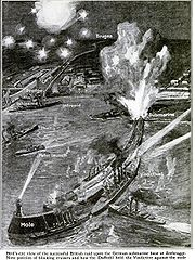 Graphic description of the Zeebrugge Raid in the Popular Science Magazine July 1918