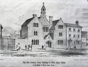 St James School in the mid 19th century when it was a National School 19th cent. LS