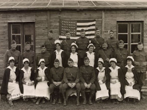 US Camp Hospital 10. Officers and Nurses 1919. US National Archives