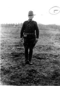 US soldier wearing Pershing Boots from WWI Notes of Verne Chaney Sr. US National Archives