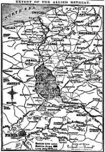 Extent of the Allies Retreat 27 March 1918. Times p7