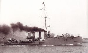 French destroyer Bouclier by Marius Bar (1862-1930). Wikimedia