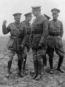 King Albert I of the Belgians and General Hubert Gough on the old Somme battlefield. Netherlands National Archives