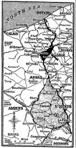 Map showing the situation on the Western Front 12 April. London Times