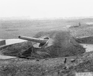 Tirpitz Battery, south of Ostend, Belgium, 1918. Imperial War Museum